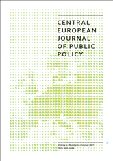 Czech public policy as a scientific discipline and object of research